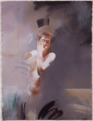 Kore , 35 x 27 inches, oil on sized paper, 2003