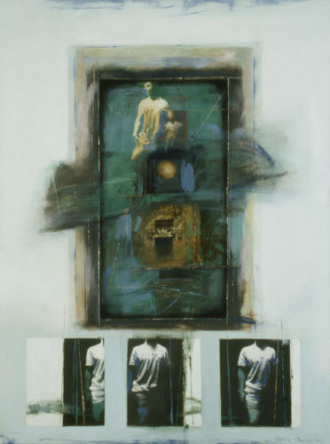 Kouroi , 49 1/2 x 37 1/2 inches, oil on canvas, 2003