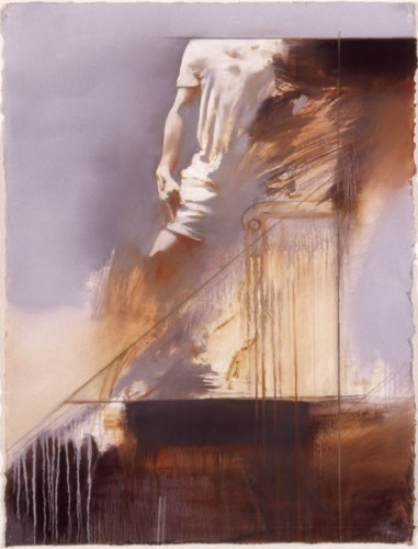 Kouros - Rome , 35 x 27 inches, oil on sized paper, 2003