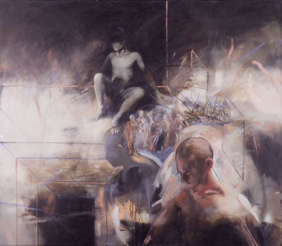 Memory and Ancestors , 42 x 48, oil on canvas, 2000