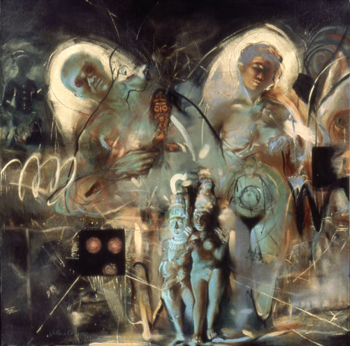 On Being Born , 30 x 26 inches, oil on canvas, 2001