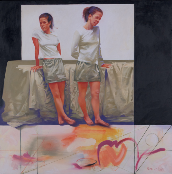 Shift, 42 x 42 inches, oil on canvas, 2009