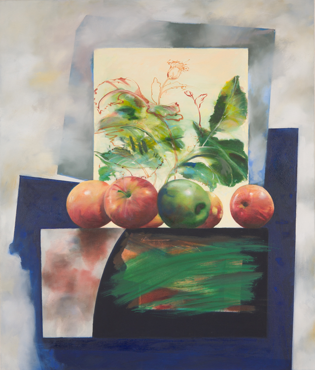 Apples , 48 x 40 inches, oil on Canvas, 2010