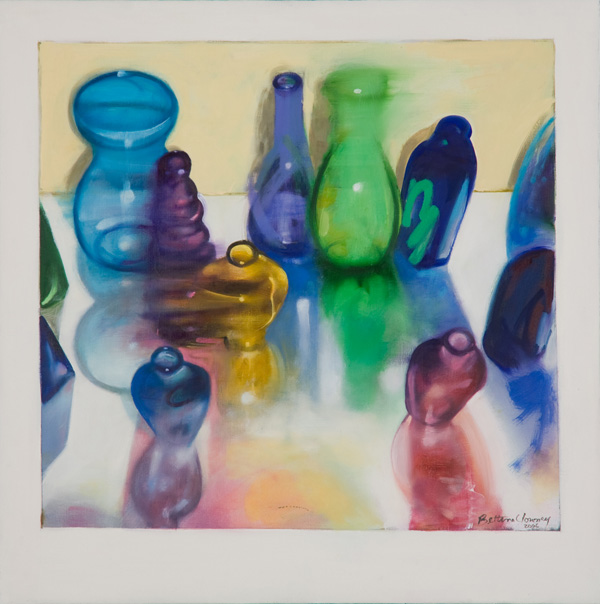 Bottles I , 24 x 24 inches, oil on canvas, 2006