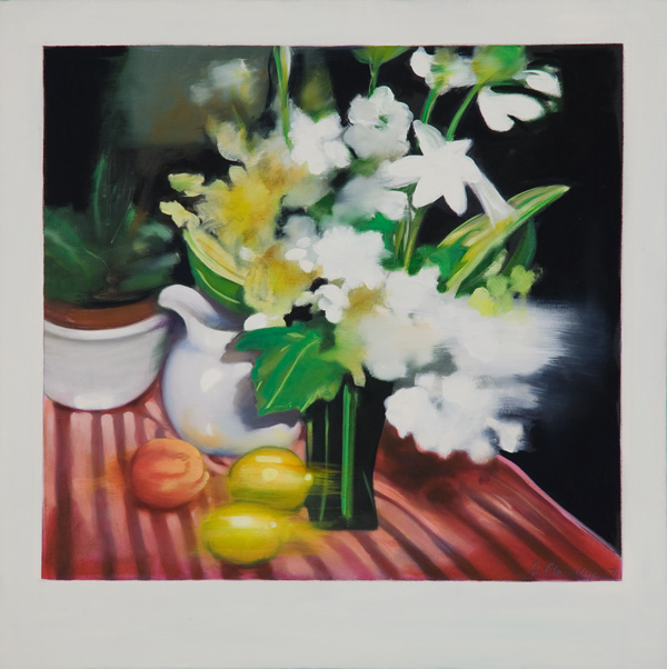 Flowers I , 24 x 24 inches, oil on canvas, 2007