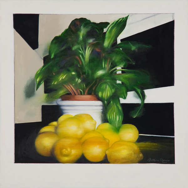 Lemons II , 22 x 22 inches, oil on canvas, 2006