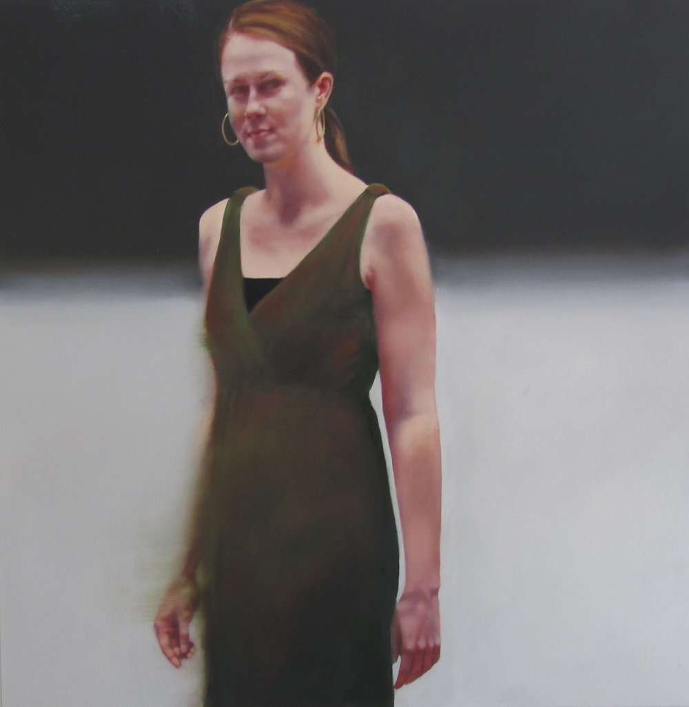 "Young Woman  31 1/2"" x 31 1/2"", oil, 2015"