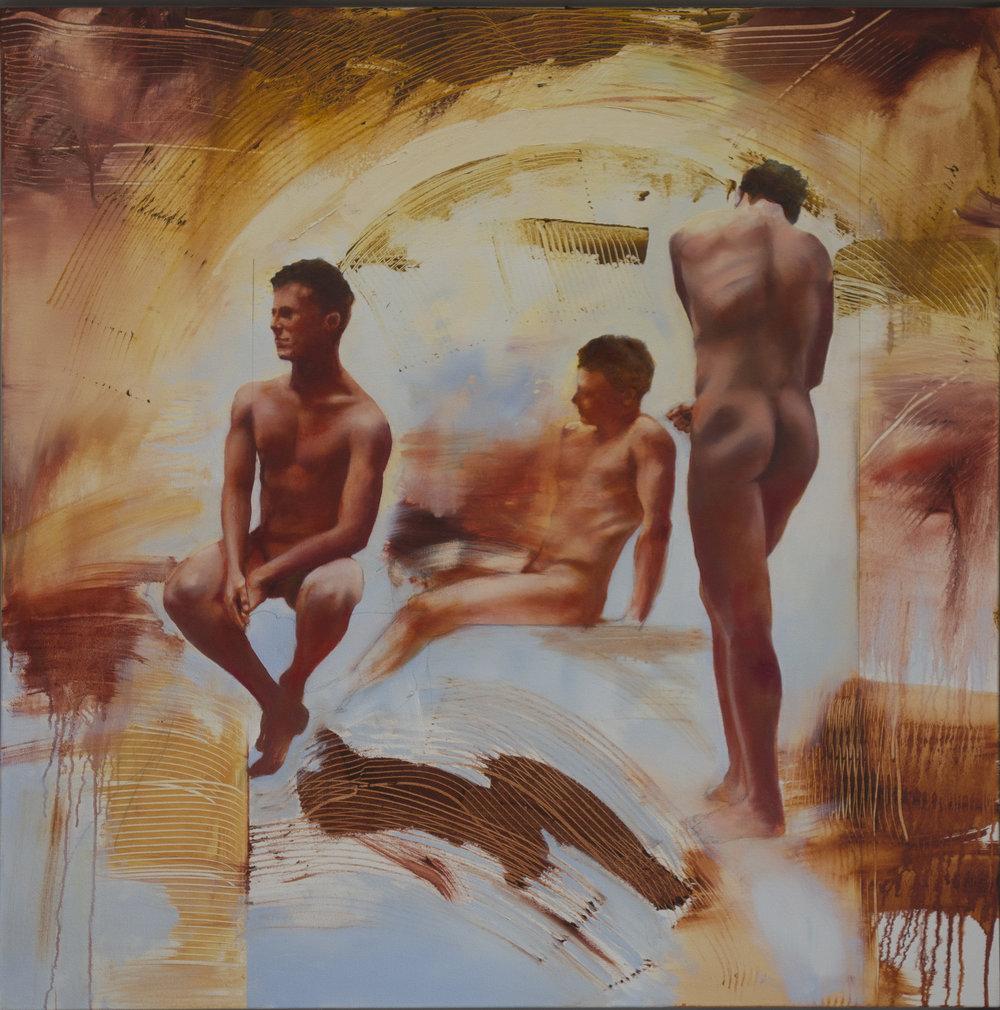 """Adam, 40"""" x 40"""", oil, 2018"""