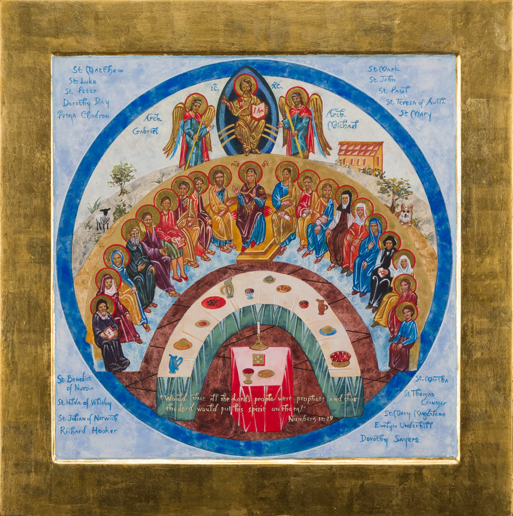 Icon of Saints Gathered at the Heavenly Feast. Private collection.