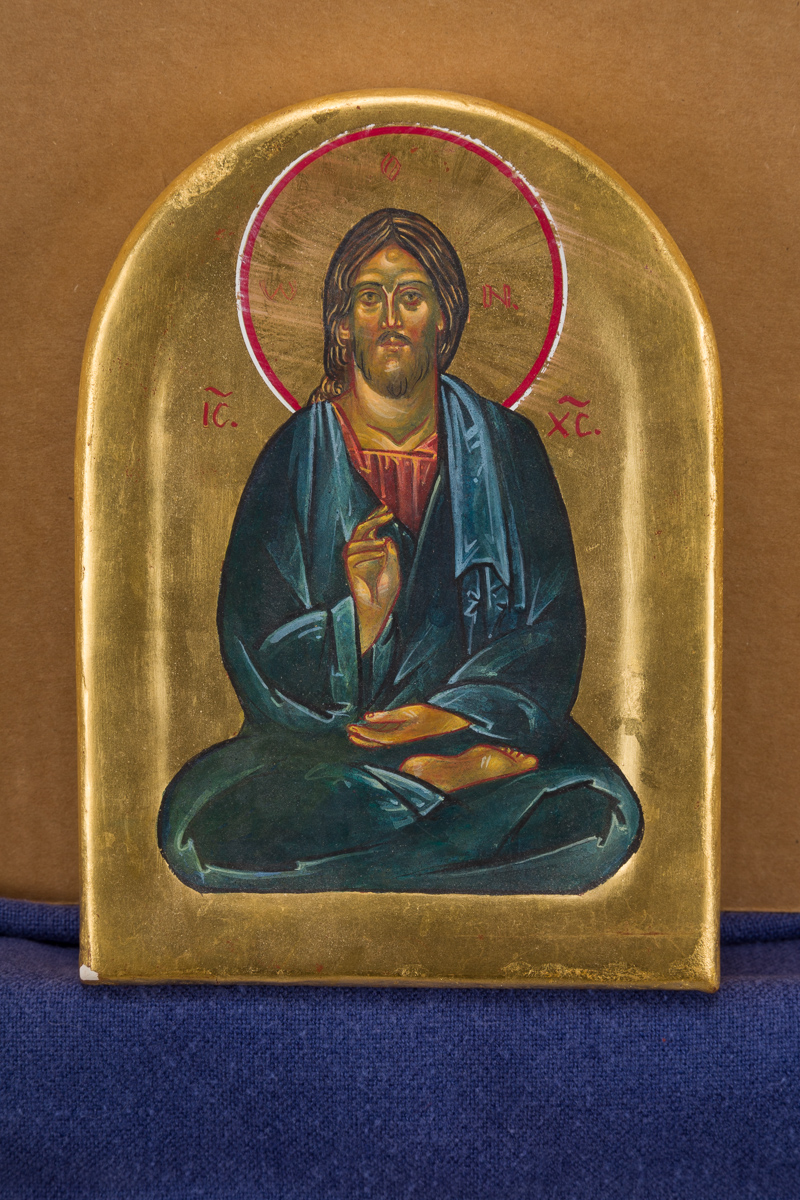 Icon of Meditating Christ. Private collection.