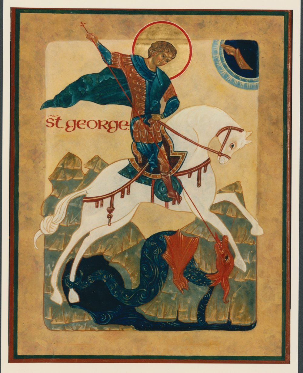 Icon of Saint George. Private collection.