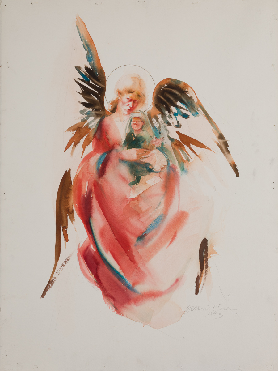 Guardian angel. Watercolor, available.