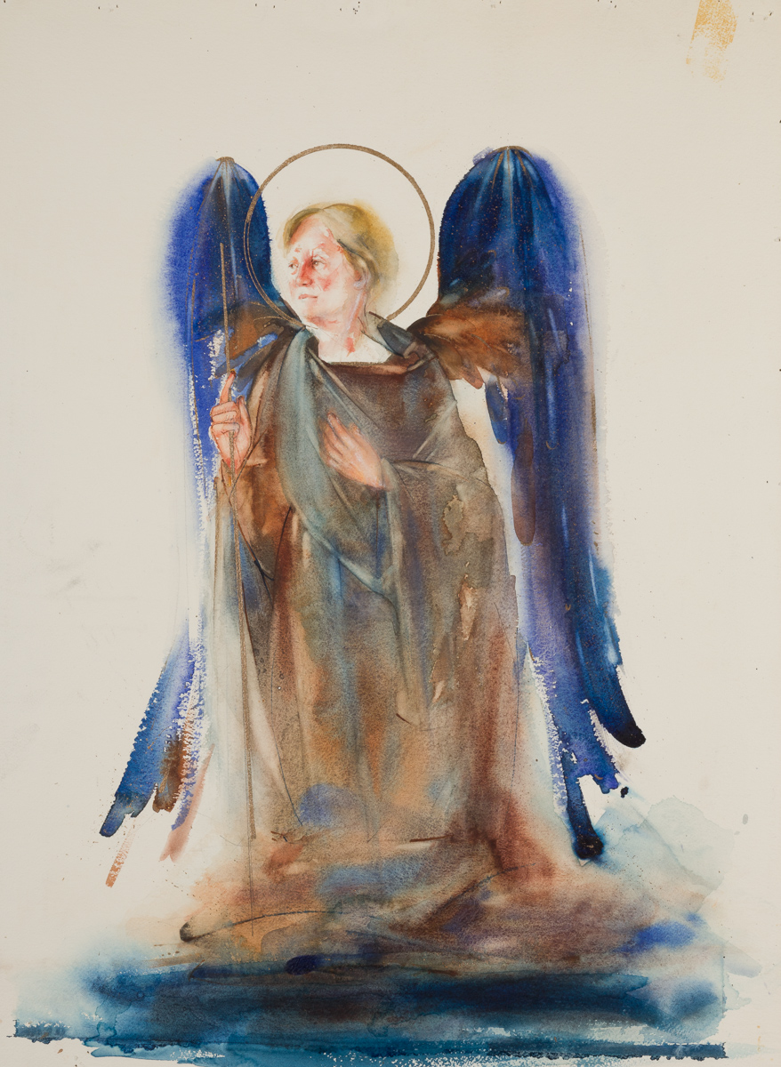 Angel. watercolor, available.