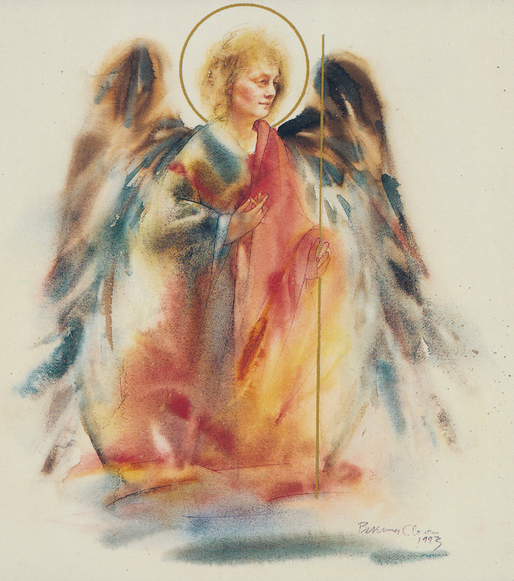 Angel Gabriel. Watercolor, available.