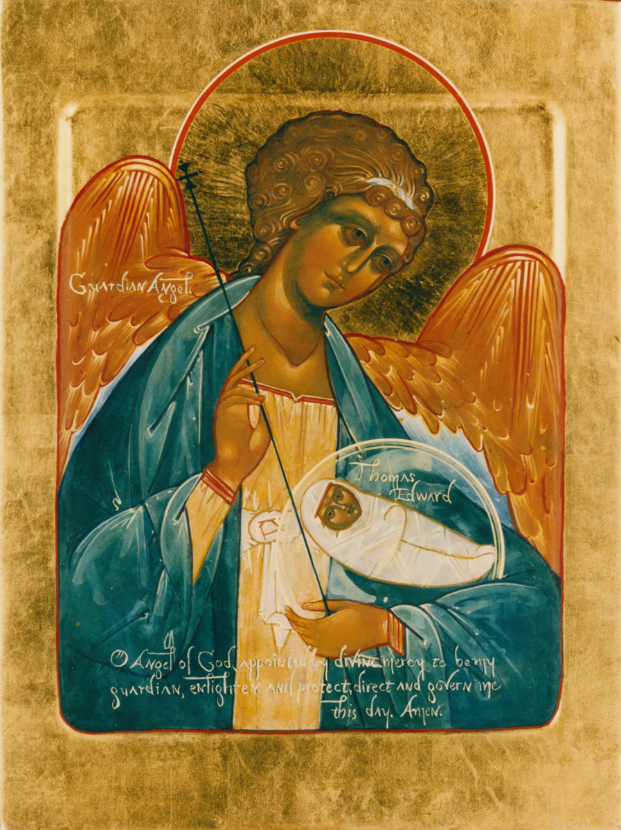 Icon of Guardian Angel, for Thomas Edward. Private collection