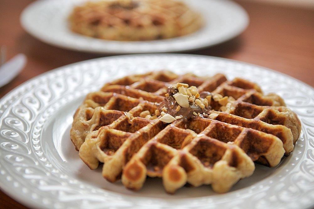 Banana Oats Waffles