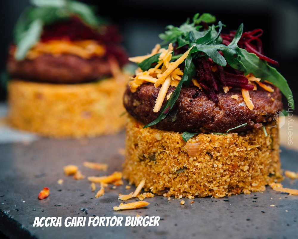 Accra Gari Fortor Burger