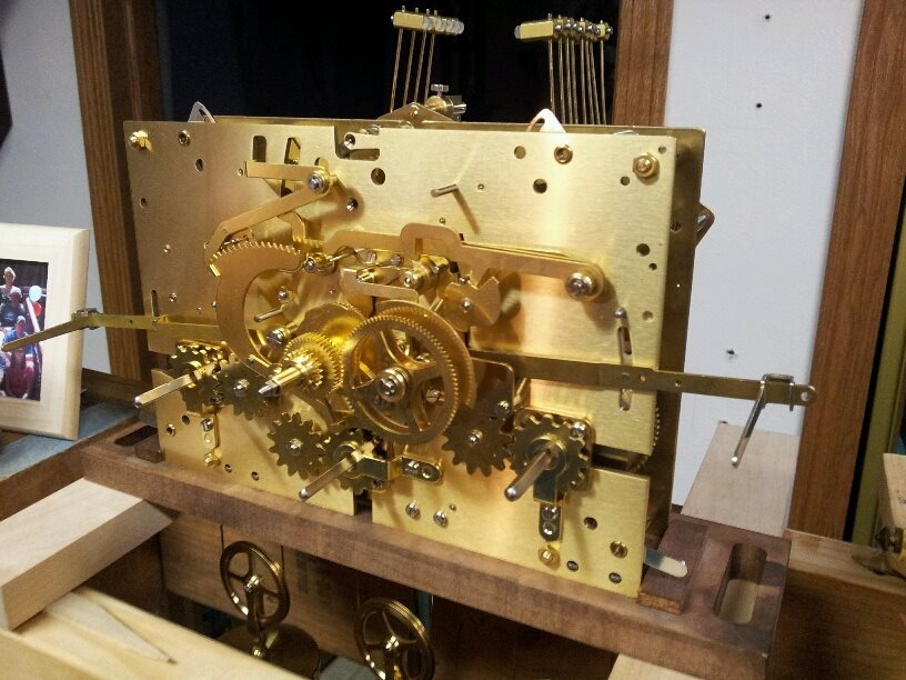 Kieninger Grandfather Clock Movement-Cleaned and Serviced       Front