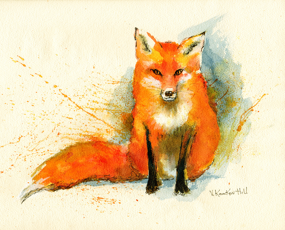 Little Firecracker. acrylic on vintage watercolour paper. 2016