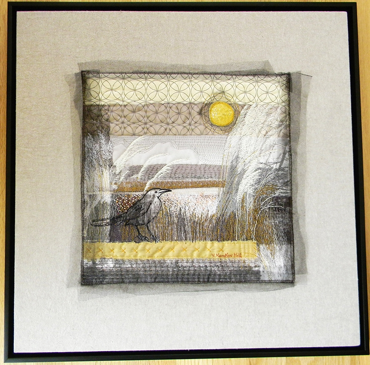 Bird's Eye View-quilting, embroidery, bead work, photography. 2016