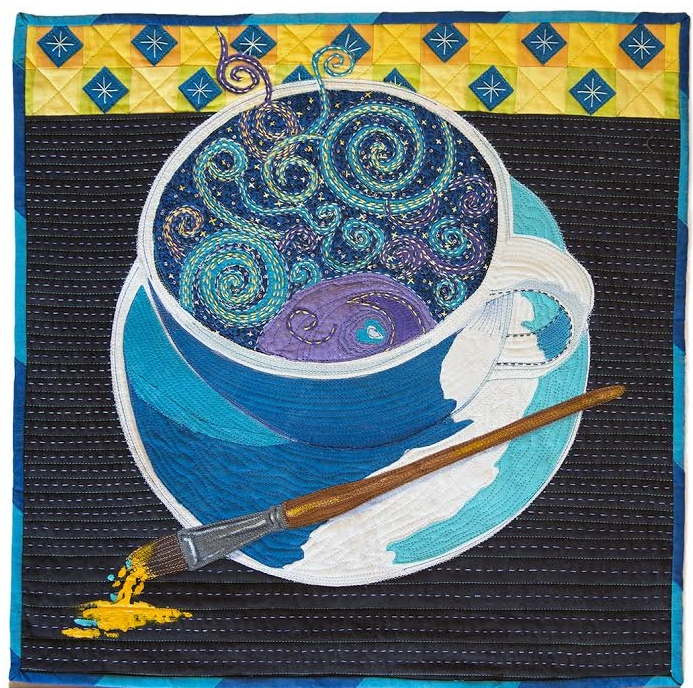 "Van Gogh's Coffee. 2017. 20"" x 20"""