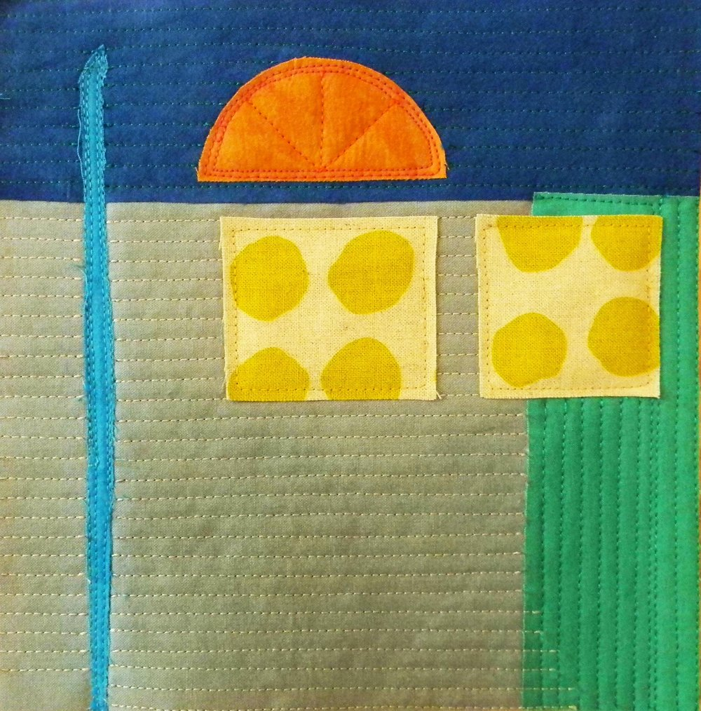 """Small Abstract Quilt. 2017  8""""x 8"""""""