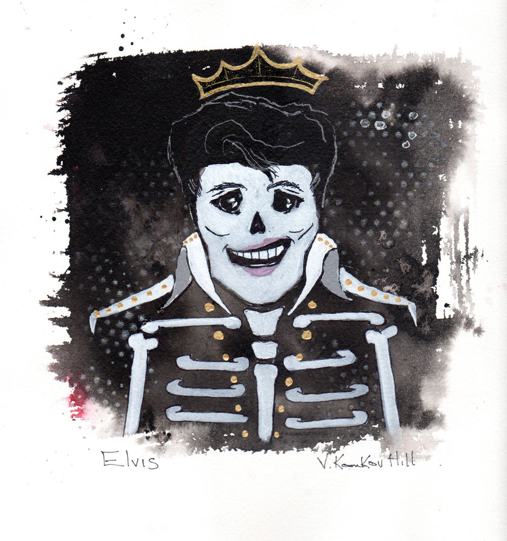 Elvis- from Day of the Dead Rock Star series. 2018