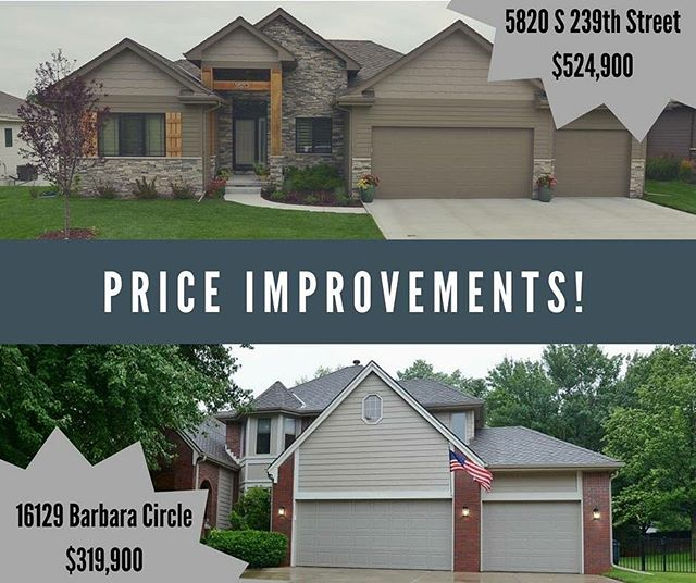 Two gorgeous homes with new & improved prices! www.erbrealestategroupNE.com #erbrealestategroupne #bhhsamb #omaha #newhome #realestate #forsale