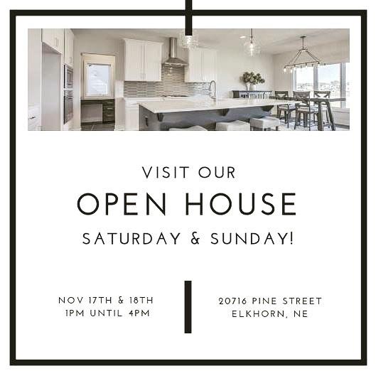 🏡 OPEN HOUSE 🏡  SATURDAY & SUNDAY 1-4 20716 Pine Street, Elkhorn. #elkhornnebraska #realestate #rammrocks #rammomaha #erbrealestategroupne