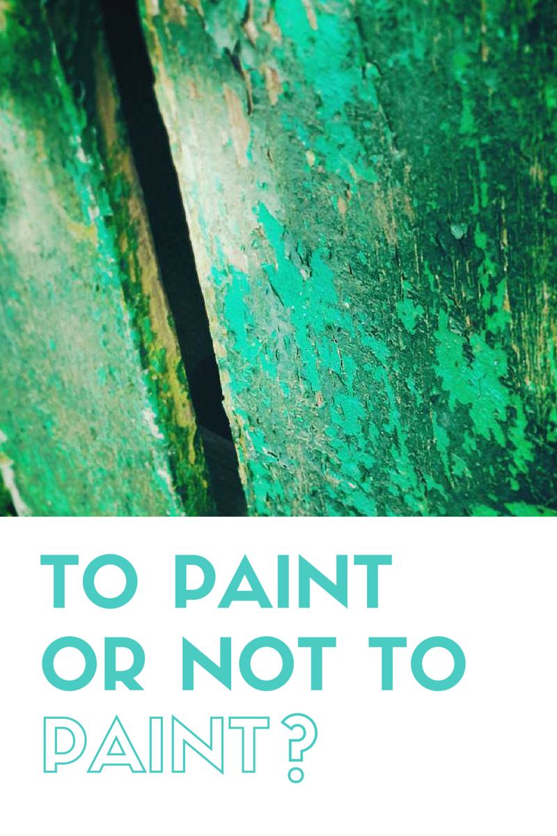 Some items of furniture simply cry our to be re-finished with paint.  But it is not always the way.