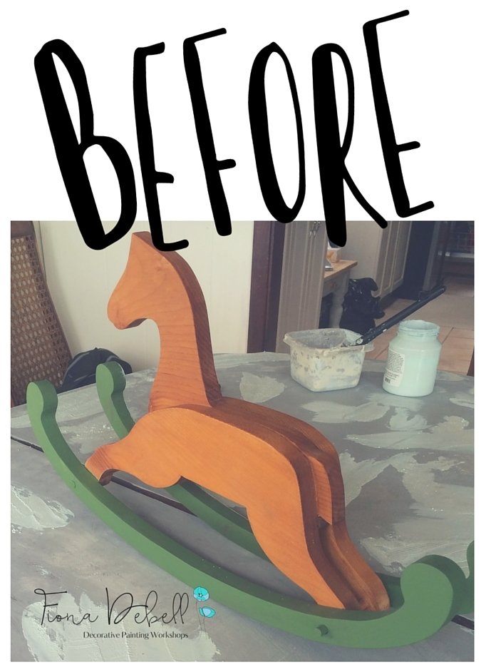 Little Rocking Horse Before his makeover with Fusion Mineral Paint