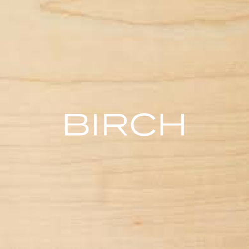 Birch comes in two varieties, yellow and white. Yellow birch is a pale yellow-to-white wood, whereas white birch has a whiter colour that looks like maple.