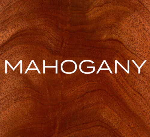 Mahogany has a reddish-brown to deep-red colour, a straight grain and a medium texture