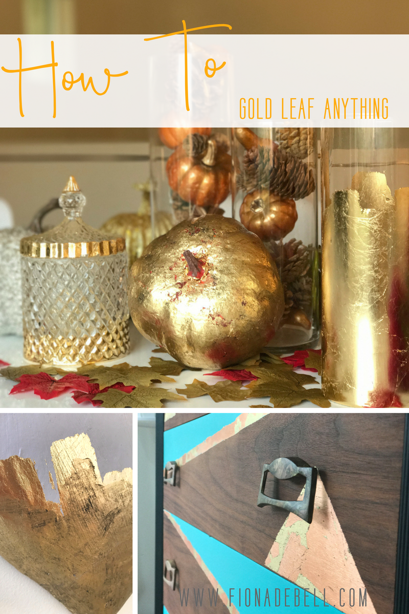 how to gold leaf anything