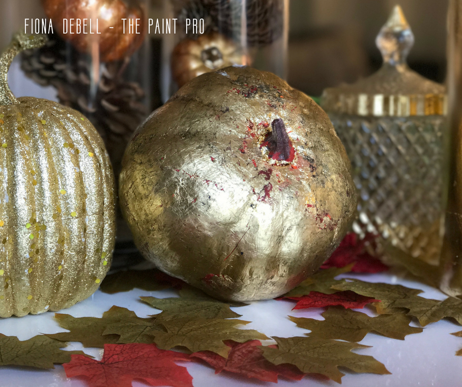 Gold Leafed Pumpkin