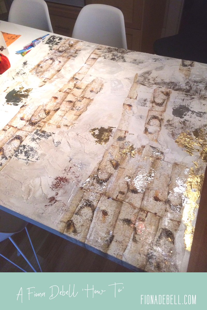 Work in progress on the kitchen table!