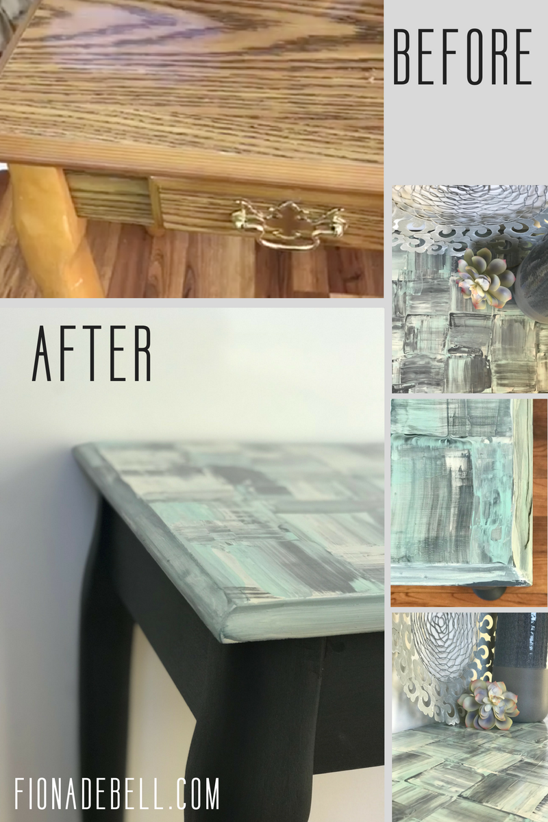 Before and after transformation of t laminate table.  | fionadebell.com