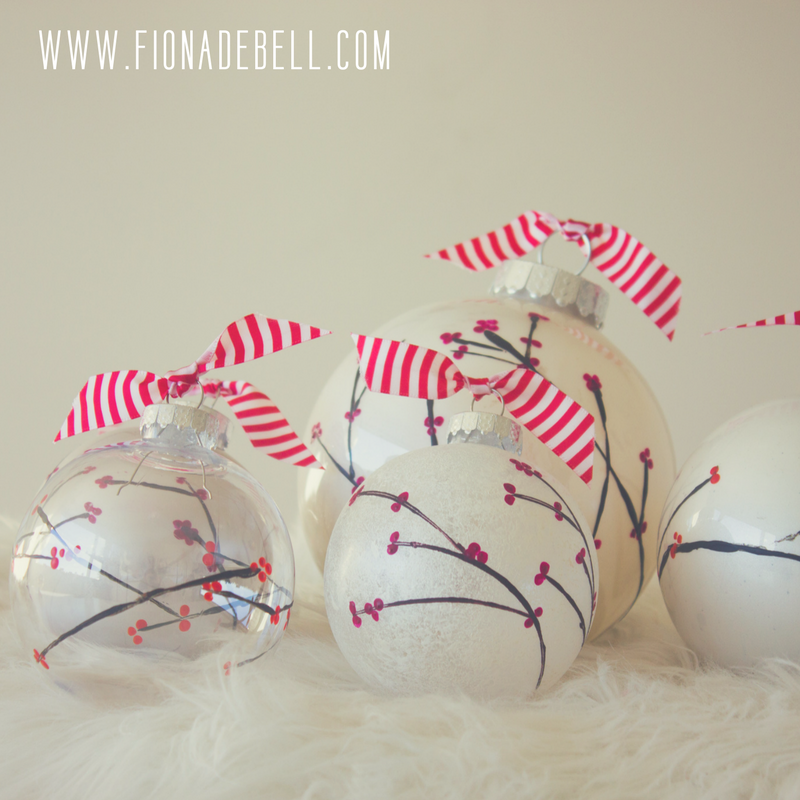 Beautiful Hand Painted Tree Baubles.  |   fionadebell.com