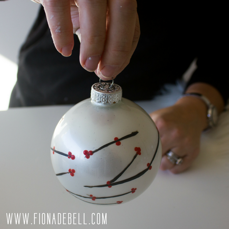 Pretty Christmas Bauble hand painted.  |  fionadebell.com