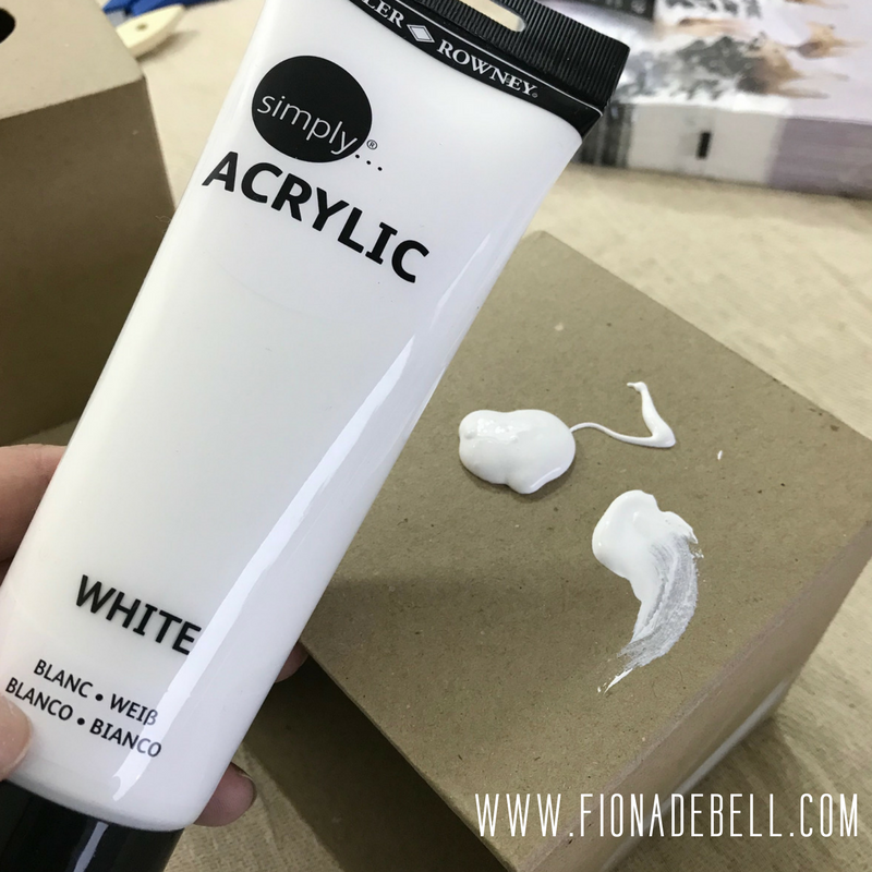 White Acrylic Craft Paint.  | fionadebell.com