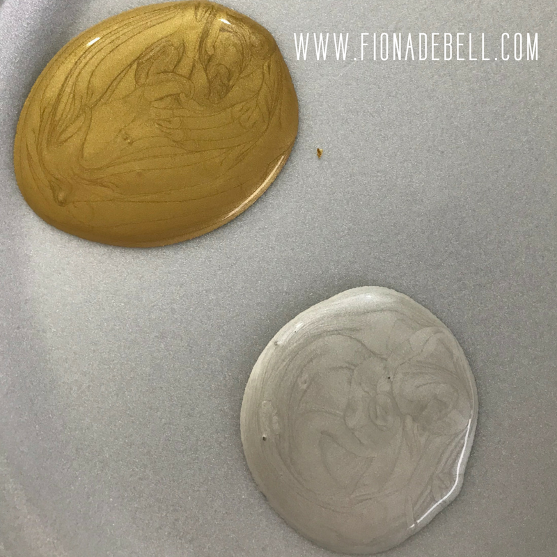Metallic Acrylic Artists Paint in Pearl and Gold.  |  fionadebell.com