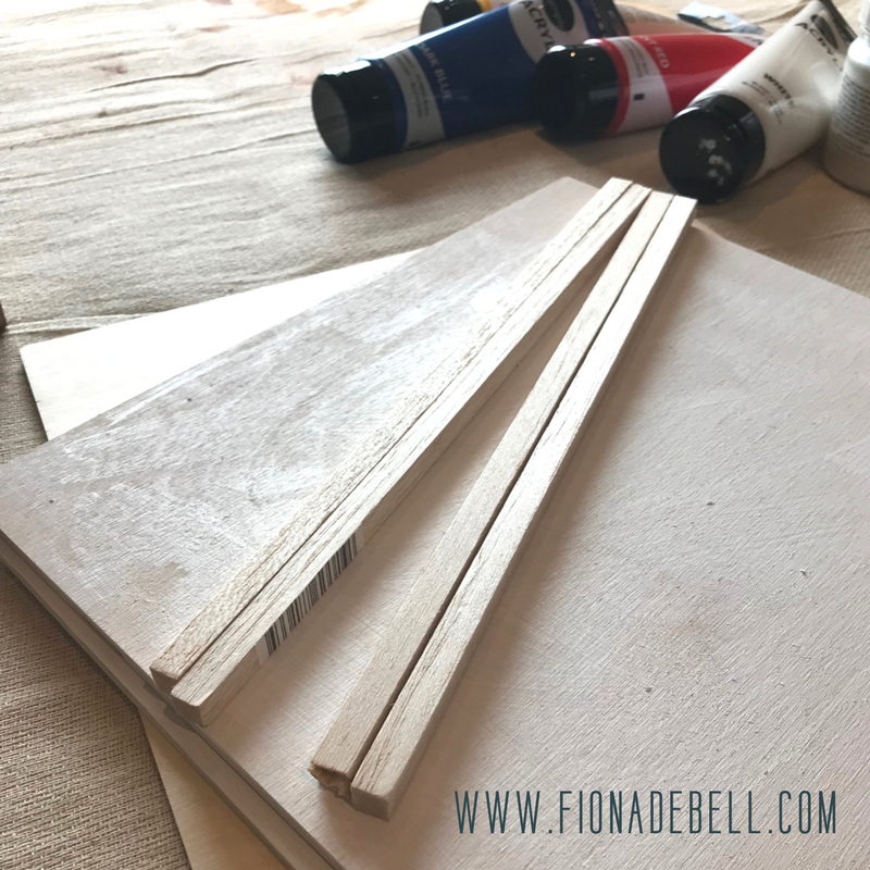 Cut Balsa Wood Sticks to create a picture frame.  |  fionadebell.com
