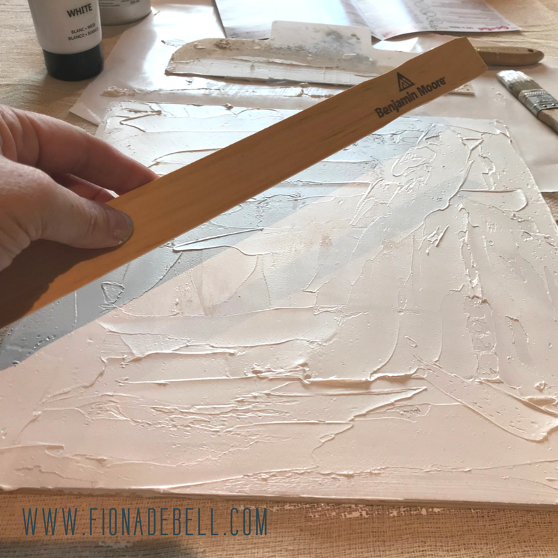 Use a paint stick to create texture.  |  fionadebell.com