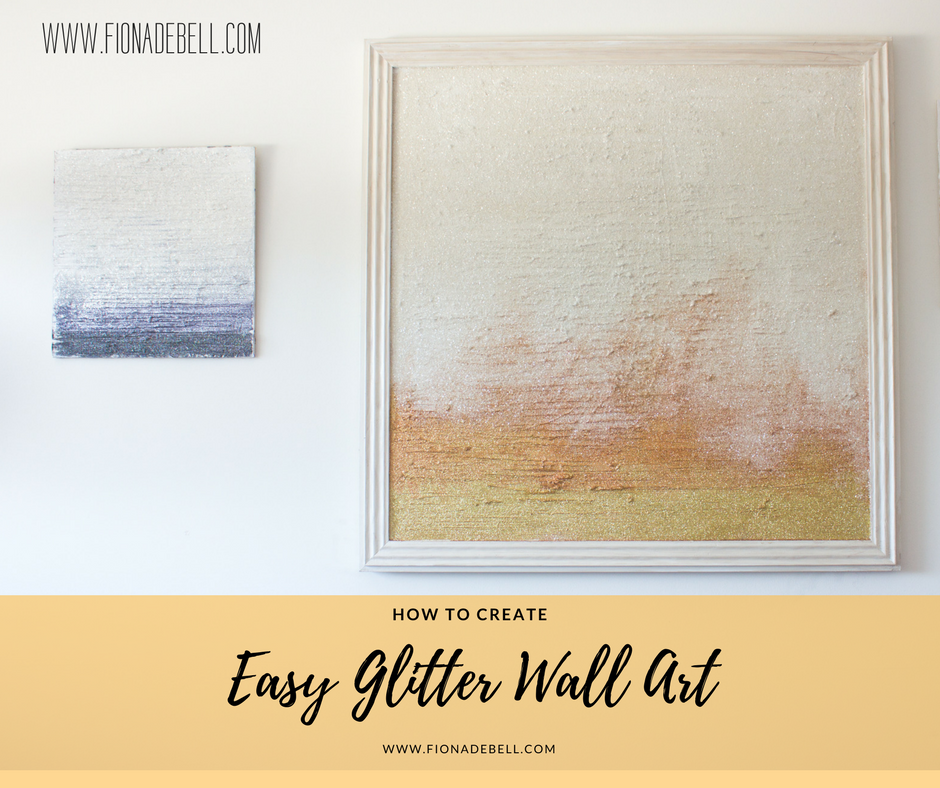 Pretty Glitter Wall Art with nice texture.  |  fionadebell.com