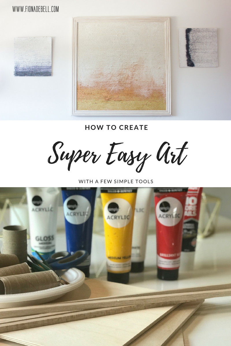 Create Super Easy Wall Art in Minutes!  |  fionadebell.com