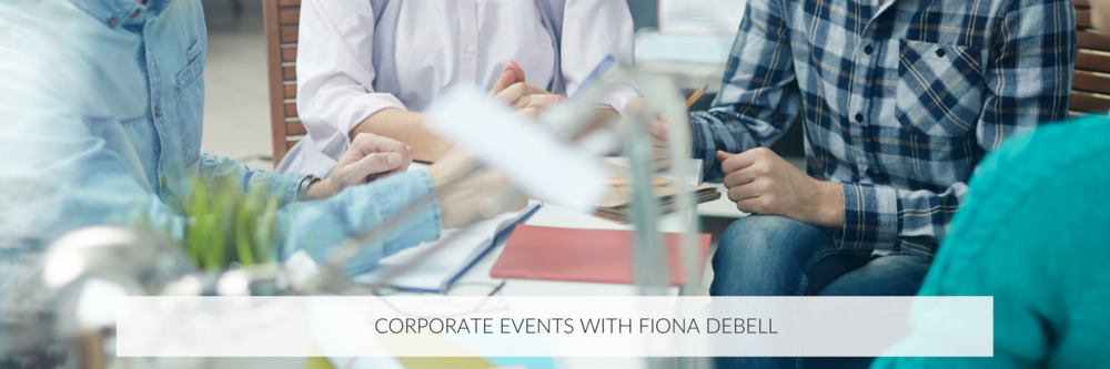 fiona debell can be hired to run createive workshops for your corporate events.  | fionadebel.com