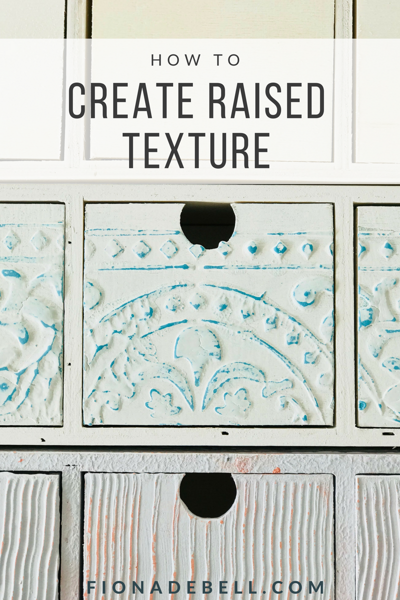 How to create raised texture using Saltwash.  |  fionadebell.com