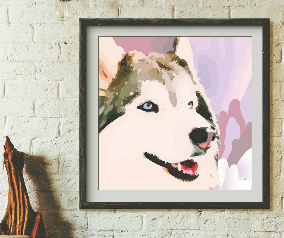 Painted Husky. | fionadebell.com
