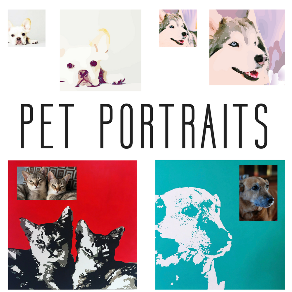 Cat and Dog Portraits by Fiona Debell.  |  fionadebell.com