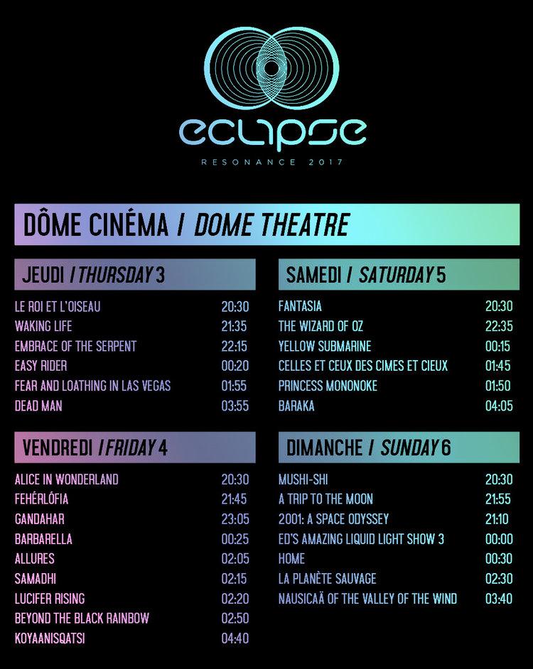 DOME CINEMA — Eclipse Festival 2018